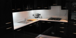 Black high gloss kitchen Arklow